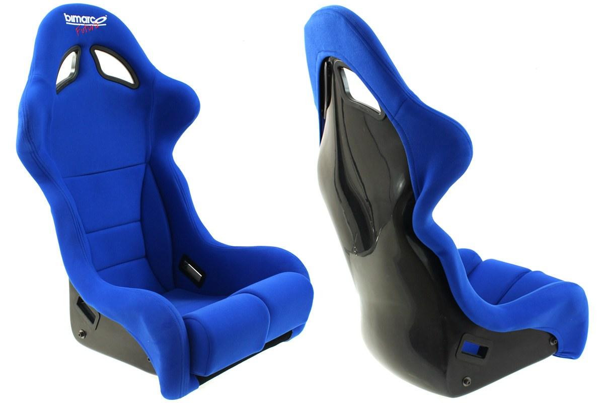 Fotel Sportowy Bimarco Futura Welur Blue FIA - GRUBYGARAGE - Sklep Tuningowy